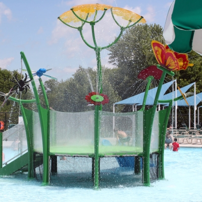A water play feature for youngsters at Alligator's Creek