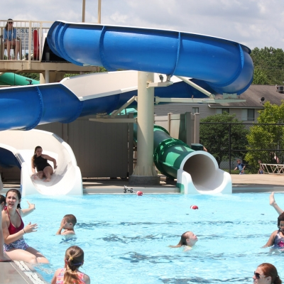 Kids love the two slides that terminate in the deepest pool