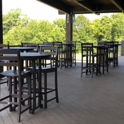 O'Day Lodge's spacious deck overlooks the Amphitheater